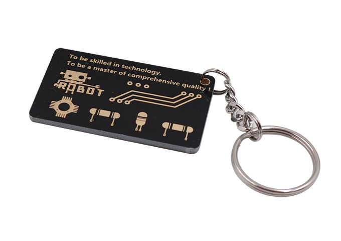 Small PCB Ruler with Keychain插图